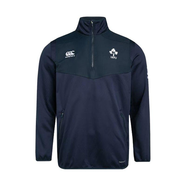 Canterbury Ireland Rugby Thermoreg 1/4 Zip Top - Navy - Kids
