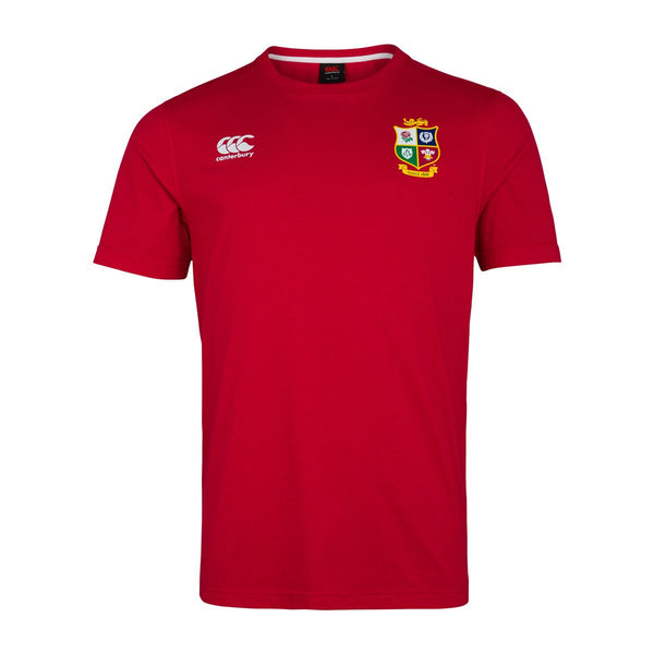 British & Irish Lions Cotton Jersey Tee - Red