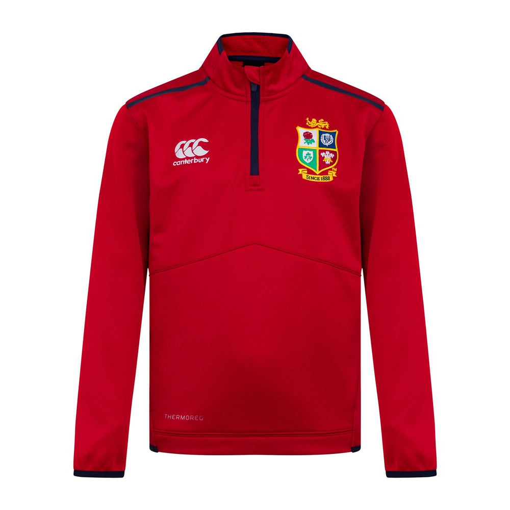 British & Irish Lions Thermoreg Quarter Zip Fleece - Junior