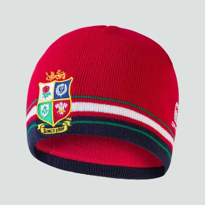 British & Irish Lions Fleece Beanie - Red