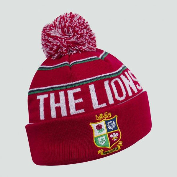 British & Irish Lions Bobble Hat - Red