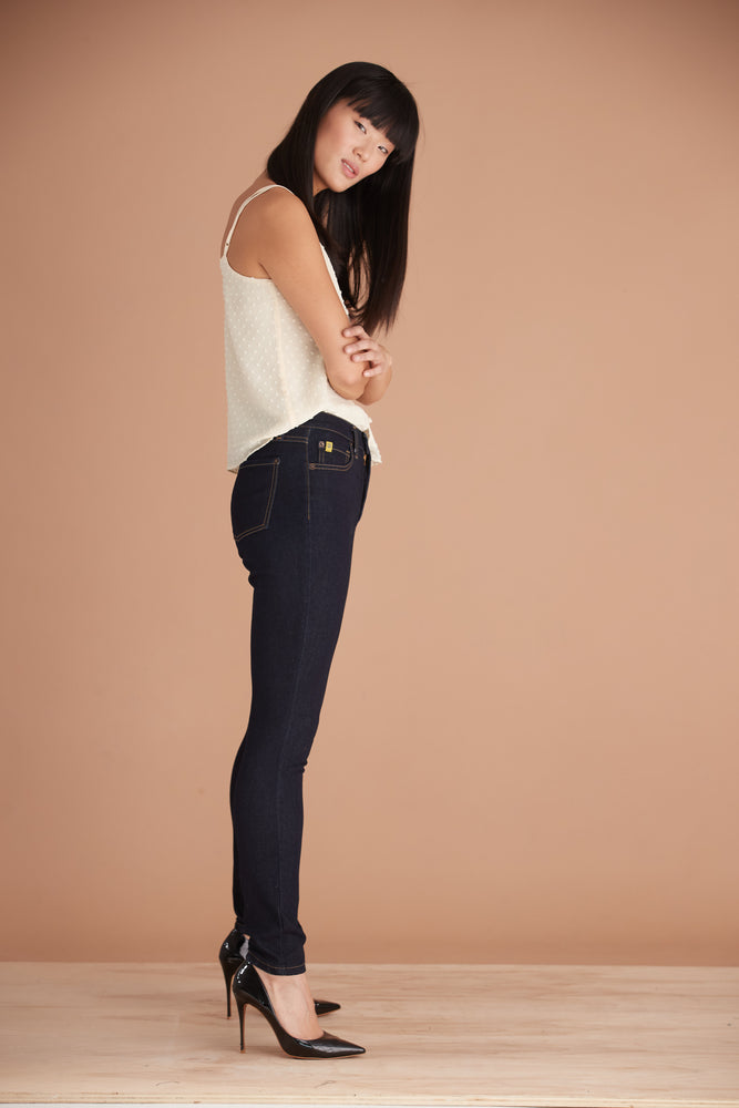 Load image into Gallery viewer, Pantalon en denim polo taille classique skinny RACHEL