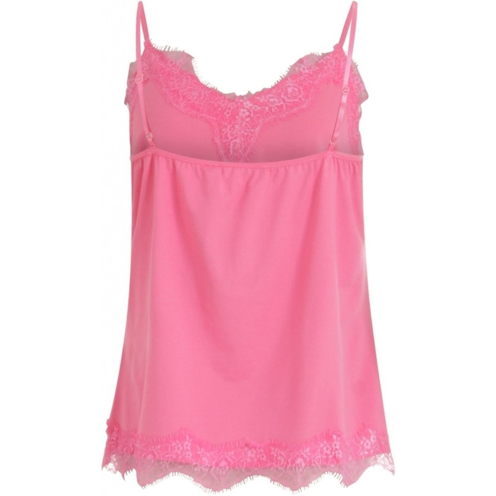 Load image into Gallery viewer, Camisole dentelle strap rose