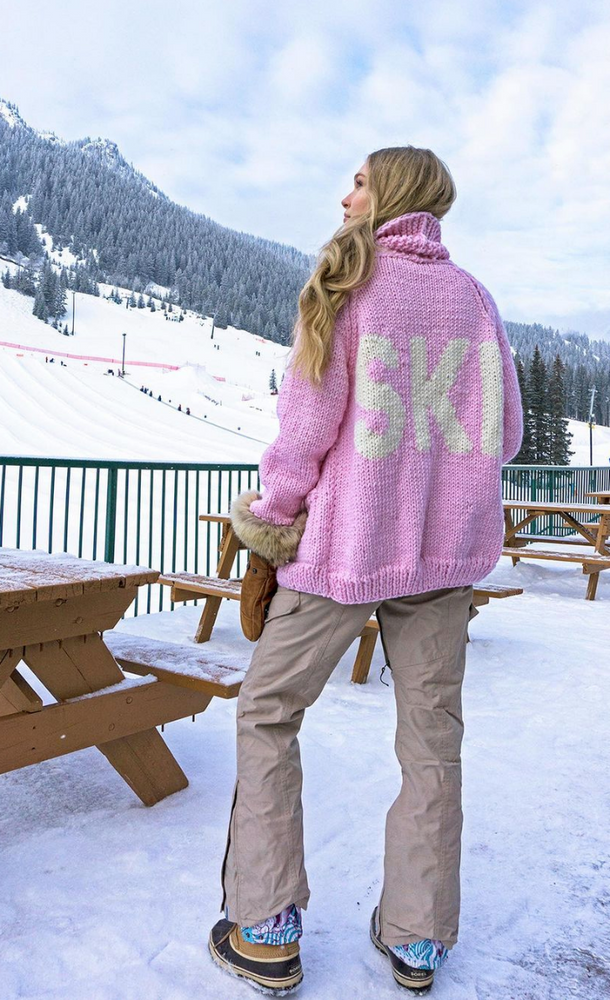 Load image into Gallery viewer, Cardigan tricot ski classique