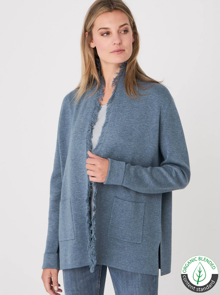 Cardigan en coton organique