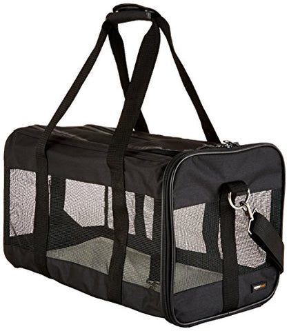 AmazonBasics Black Soft-Sided Pet Carrier - Large - WyldekardeWorld