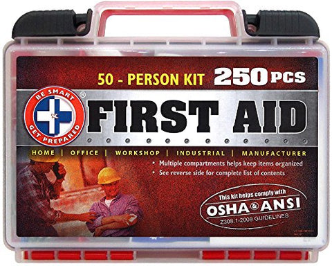 250 Piece First Aid Kit, Exceeds OSHA ANSI Standards for 50 People - WyldekardeWorld
