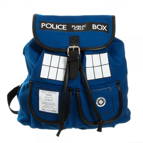 Doctor Who TARDIS Knapsack Backpack 14 x 17in - WyldekardeWorld