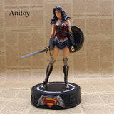 Wonder Woman Statue with Light PVC Action Figures Collectible Model Toys 22cm KT3624 - WyldekardeWorld