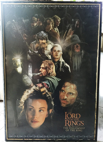 The Lord of the Rings: Fellowship of the Rings Poster Framed with Glass - WyldekardeWorld