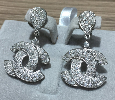 Dangling CC Style Diamond Earrings - WyldekardeWorld