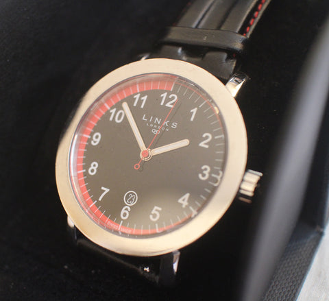 Links of London Men's Watch Black and Red Authentic - WyldekardeWorld