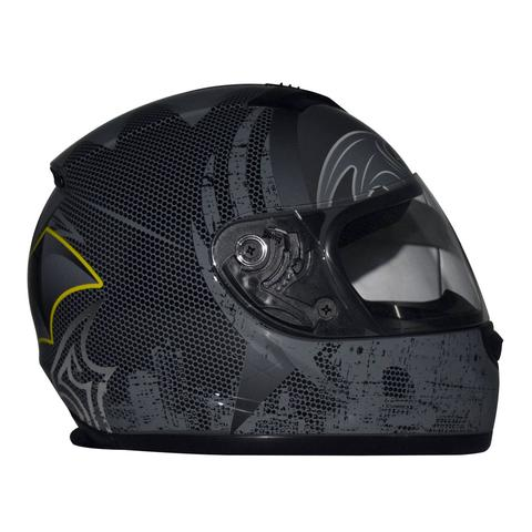 DC Justice League Motorcycle Helmet - Batman - WyldekardeWorld