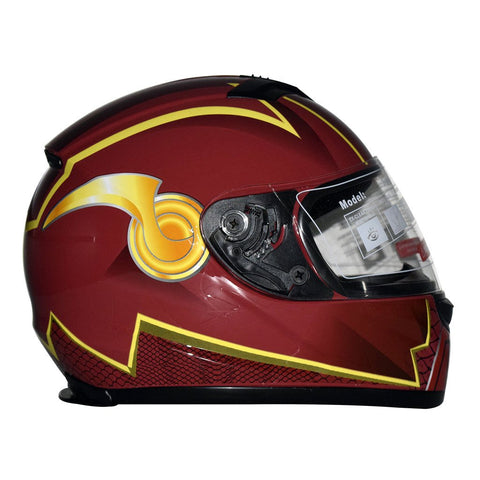 DC Justice League Motorcycle Helmet - The Flash - WyldekardeWorld
