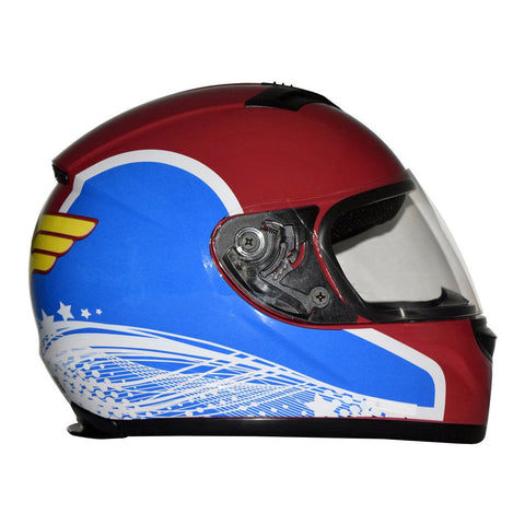 DC Justice League Motorcycle Helmet - Wonder Woman - WyldekardeWorld
