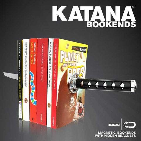 Magnetic Katana Bookends