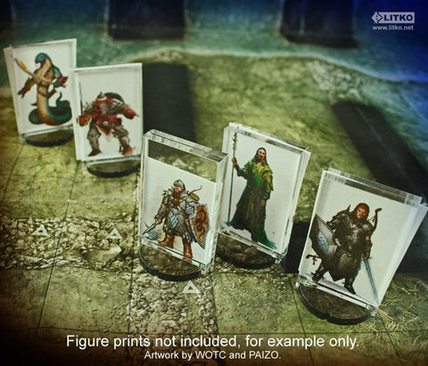 RPG Paper Figure Counter Stand 5 PCS.