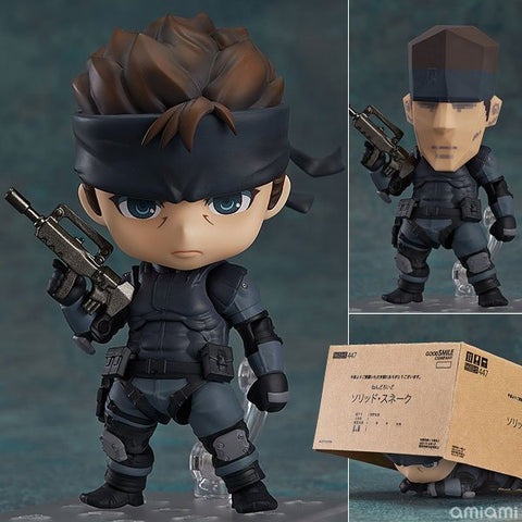 METAL GEAR SOLID Solid Snake #447 Nendoroid PVC Action Figure Collectible Model Toy - WyldekardeWorld