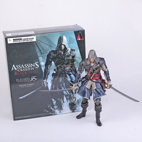 Play Arts KAI Assassin's Creed Black Flag Edward Kenway PVC Action Figure Collectible Toy 27cm - WyldekardeWorld