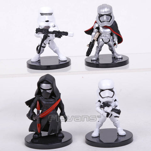 Star Wars 4pcs/set KYLO REN STORMTROOPER FLAMETROOPER CAPTAIN PHASMA Mini PVC Figures Collectible Model Toys Boxed - WyldekardeWorld