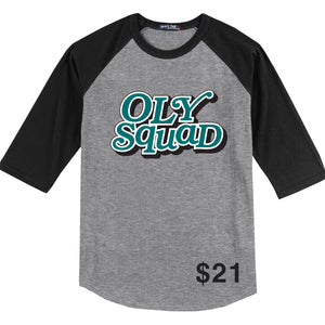 Olympic High Spirit and Staff 2019 - 3/4 Sleeve Raglan