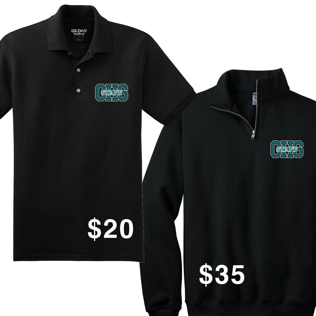 Olympic High Spirit and Staff 2019 - Staff Polo and 1/4 Zip