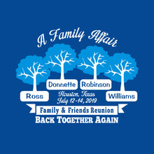 Ross Family Reunion 2019 - YOUTH Royal 50/50 T Shirt