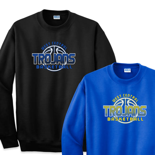West Central Basketball 2019 - 9oz Crewneck Sweatshirt & 8oz Youth Crewneck