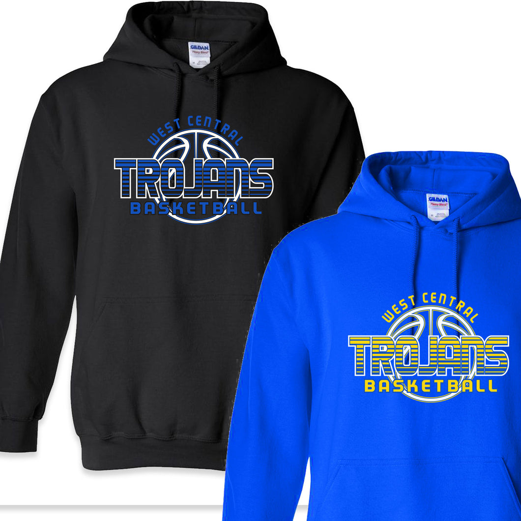 West Central Basketball 2019 - 9oz Hooded Sweatshirt & 8oz Youth Hooded