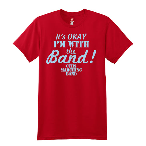 CCHS Marching Band 2018 - Red 4.5oz. 100% ring-spun cotton