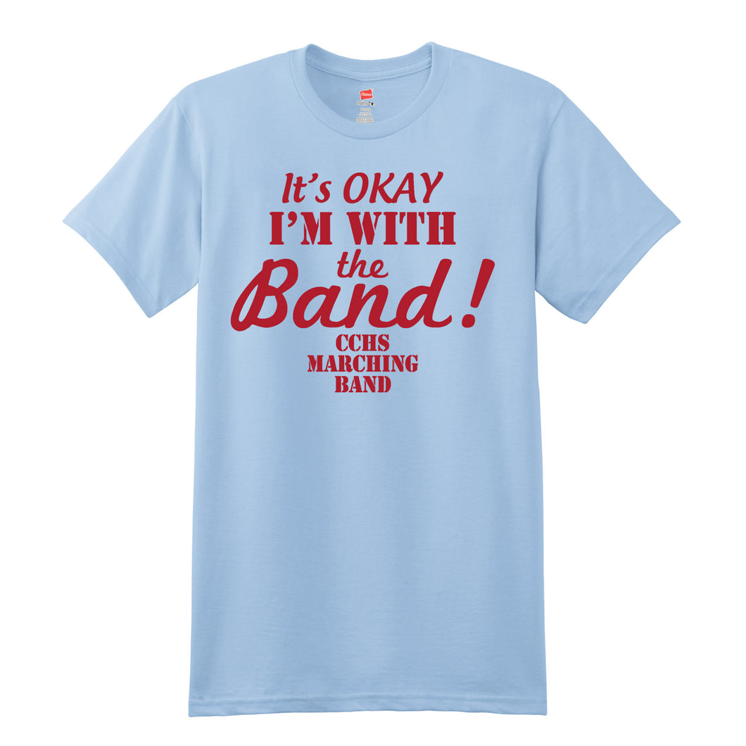 CCHS Marching Band 2018 - Light Blue 4.5oz. 100% ring-spun cotton