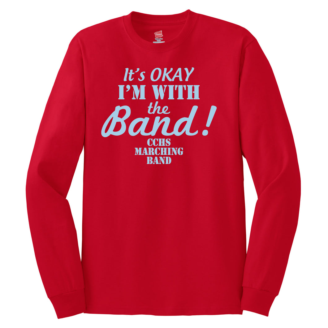 CCHS Marching Band 2018 - Red Hanes Long Sleeve T Shirt