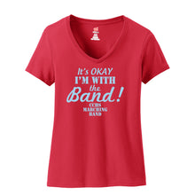 CCHS Marching Band 2018 - Red Ladies V-Neck 4.5oz. 100% ring-spun cotton