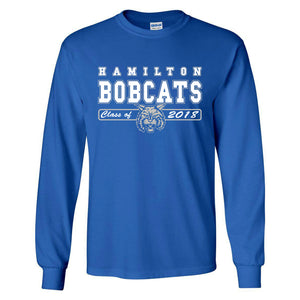 Hamilton Bobcats Class of 2018 - Long Sleeve T Shirt