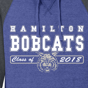 Hamilton Bobcats Class of 2018 - Vintage Soft Hooded Sweatshirt