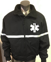 NEW custom printed jacket with 3M reflective EMS REFLECTIVE JACKET Star of Life front and EMS on the back