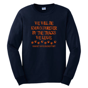 Magnet Cove Elementary Spirit - Navy Long Sleeve T Shirt