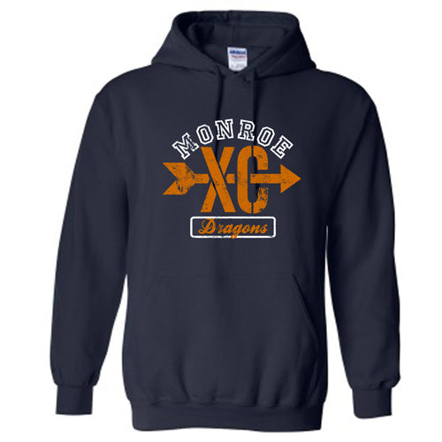 Monroe Dragons Cross Country 2018 - Hooded Sweatshirt