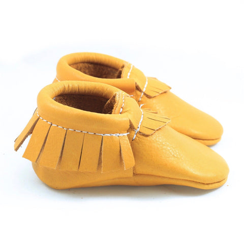Honey Mustard Leather Moccasin