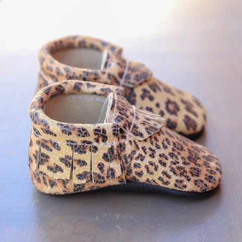 Cheetah Leather Moccasin