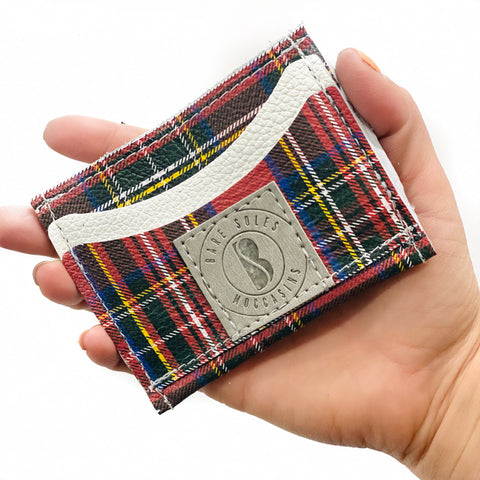 Magical Plaid Bare Soles Credit Card Holder