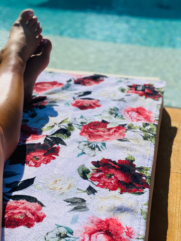 Bare Soles Printed Beach Towel