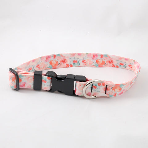 Valentine Floral Bare Dog Collar