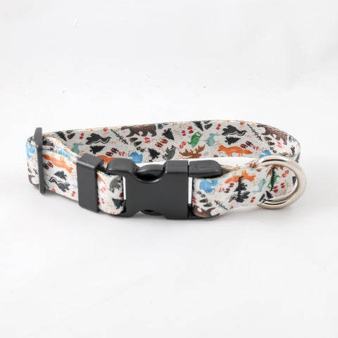 Woodland Bare Dog Collar