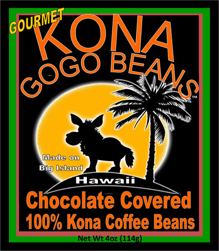 Gogo Beans - Milk Chocolate - 100% Kona Coffee Beans