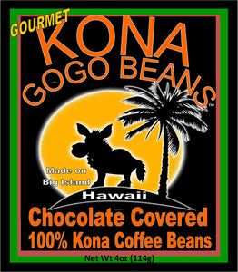 Gogo Beans - Dark & White Chocolate Mix - 100% Kona Coffee Beans