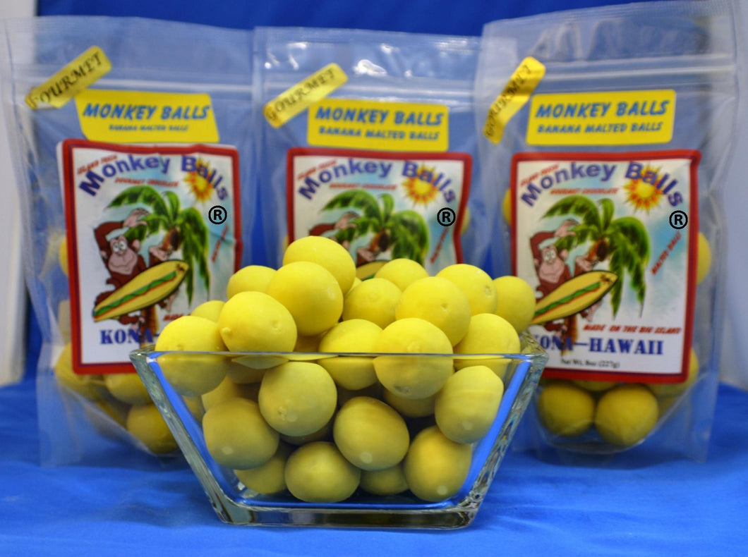 Monkey Balls - Banana Malted Balls - The Original Donkey Ball Store