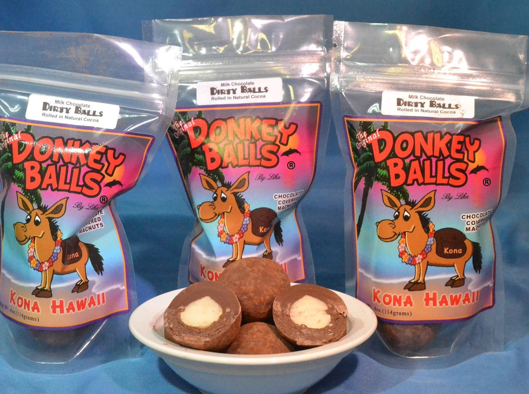 Dirty Balls - Milk Chocolate Donkey Balls - The Original Donkey Ball Store