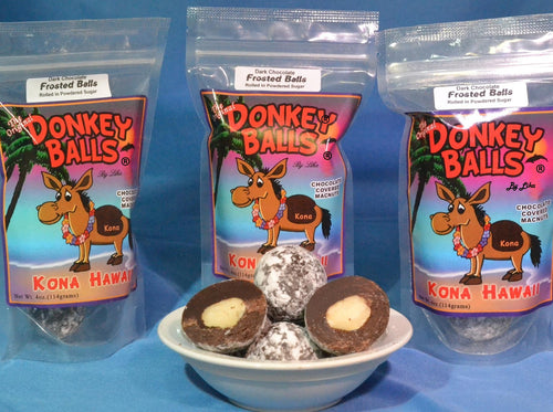 Frosted Balls - Dark Chocolate Donkey Balls - The Original Donkey Ball Store