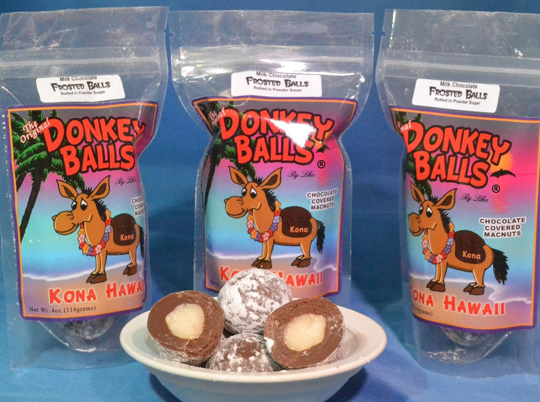 Frosted Balls - Milk Chocolate Donkey Balls - The Original Donkey Ball Store
